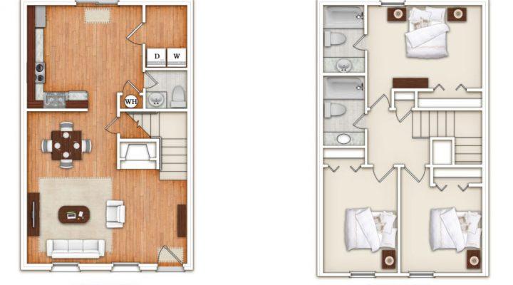 King's Crest Townhomes floorplan 1
